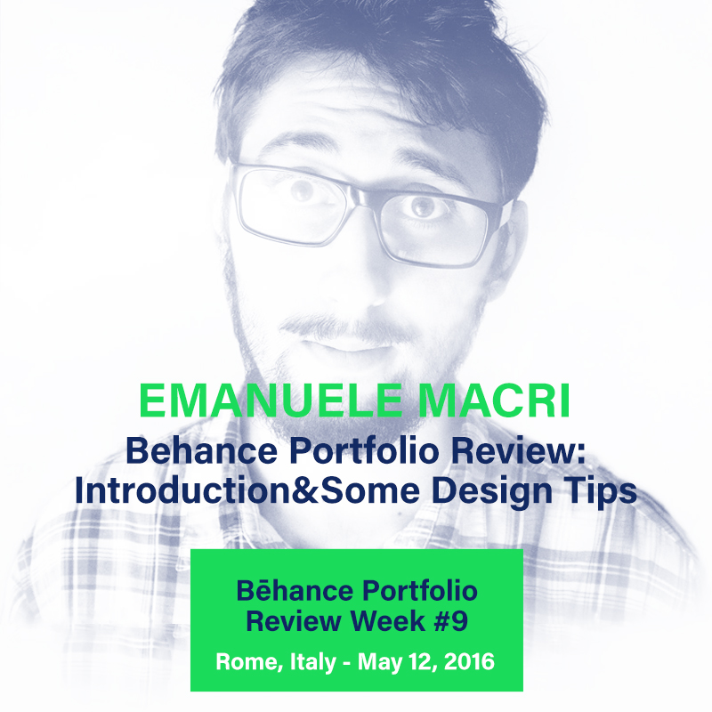 Behance Portfolio Review Roma Emanuele Macri